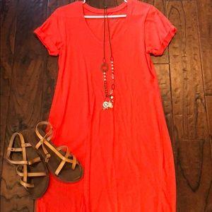 Gap orange/red T-shirt dress